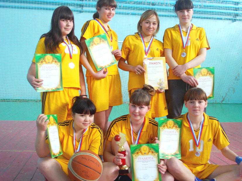 Команда ПУ-16 второе место по баскету